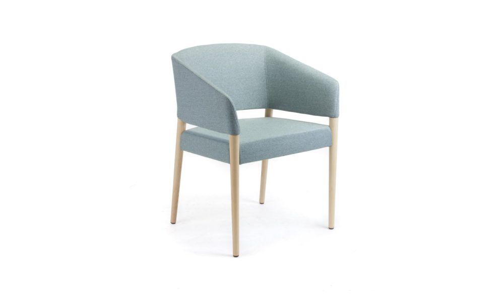 armchair with four timber legs