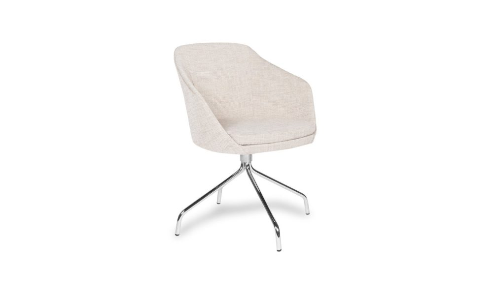 armchair with chrome base