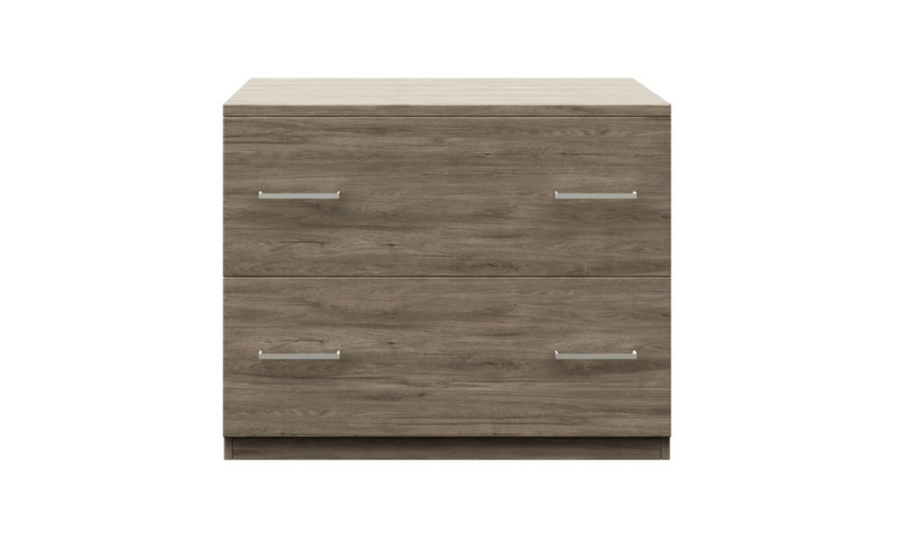 lateral filing cabinet made with melamine