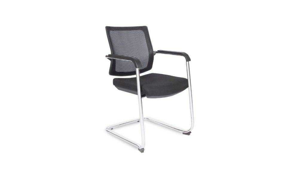 visitor chair with mesh back