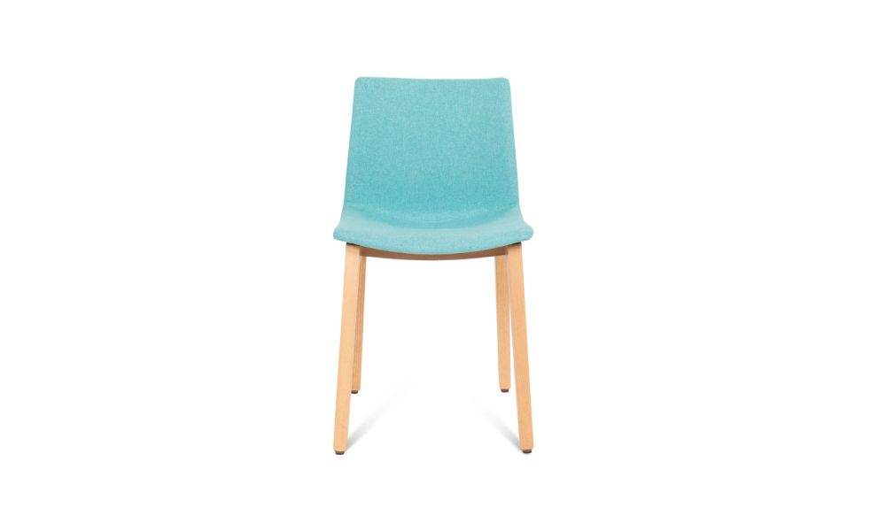 Visitor chair with timber legs