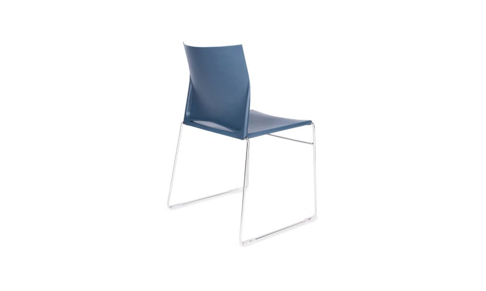 visitor chair with chrome sled