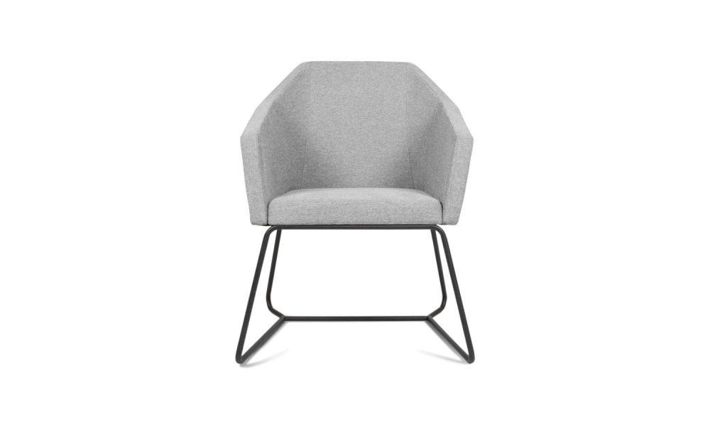 grey fabric office armchair