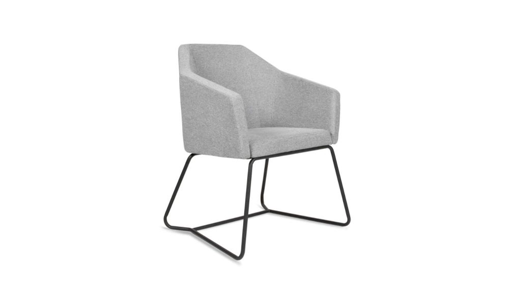 grey fabric office armchair