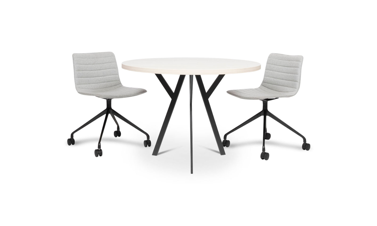 round meeting table with chairs