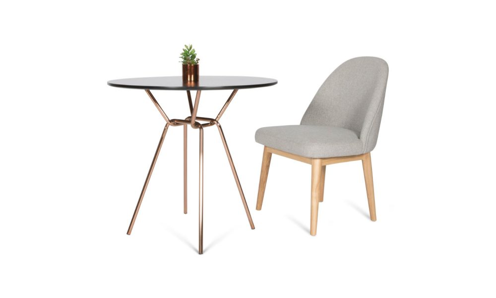 round meeting table with chair