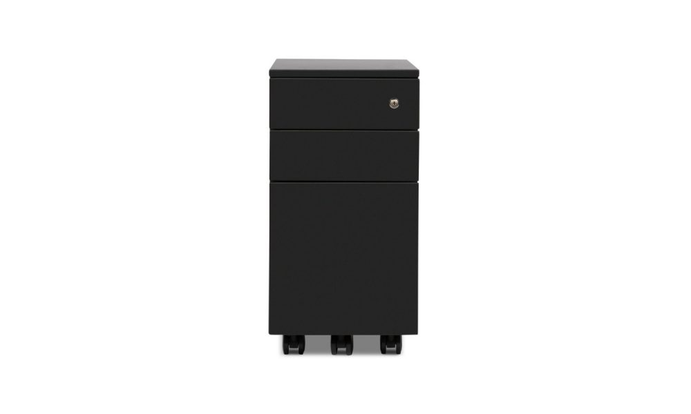 slimline black mobile pedestal