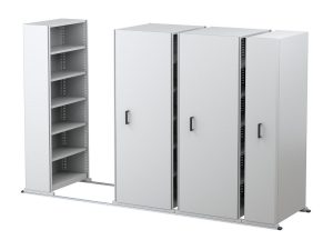 space saving mobile shelving