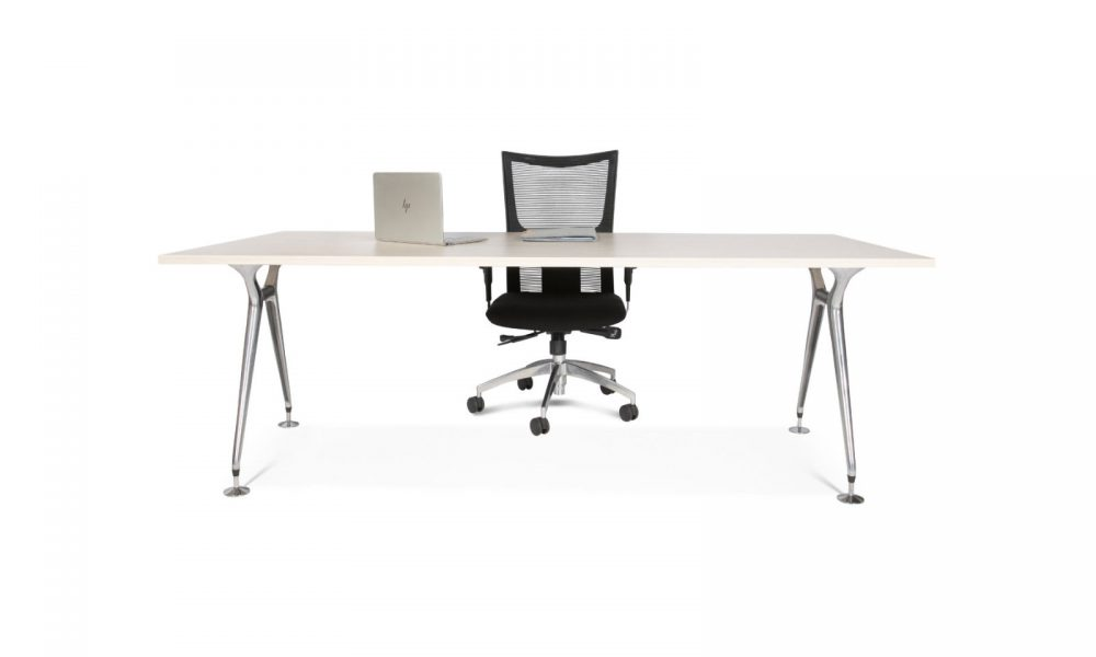 office desk with chair and computer