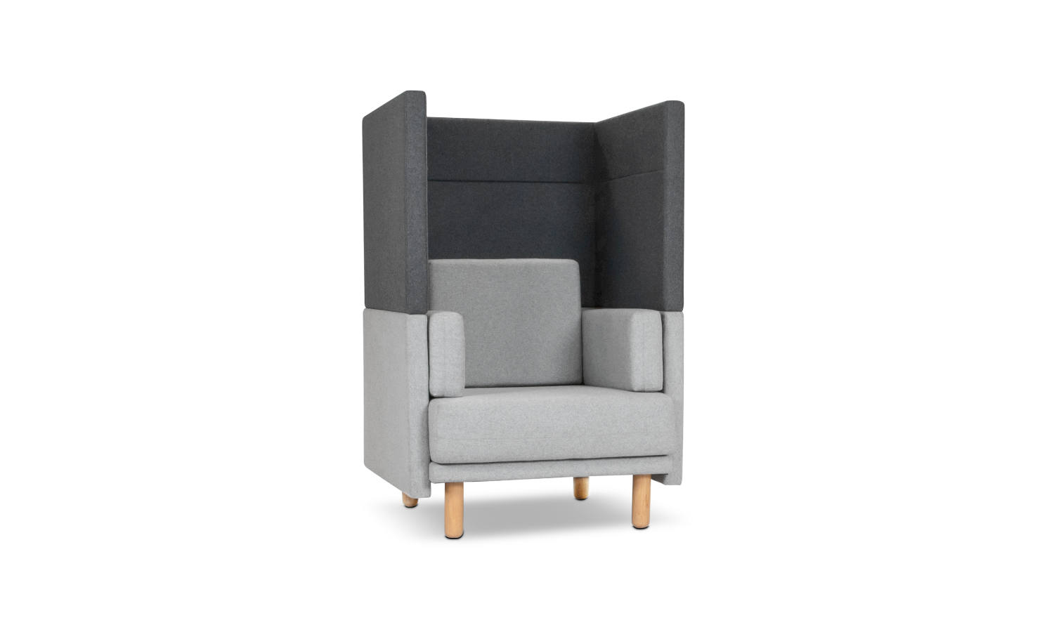 single seater lounge with privacy screen