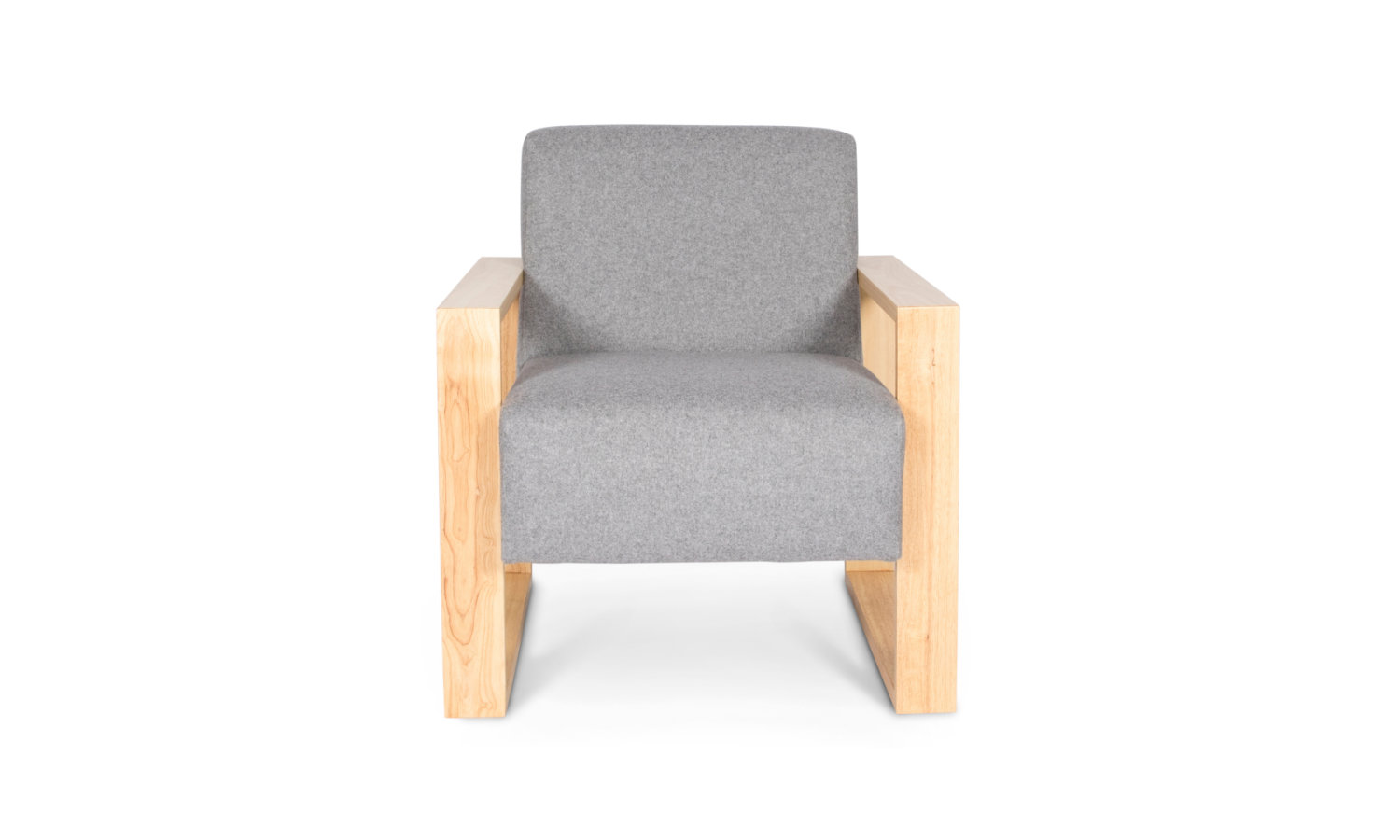 office soft seating with fabric and timber arms
