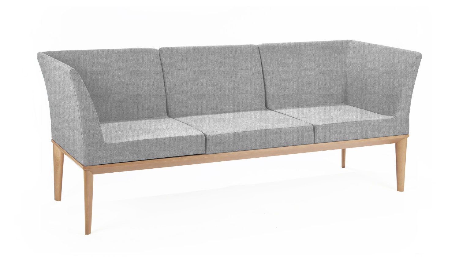 office soft seating grey for 3 people