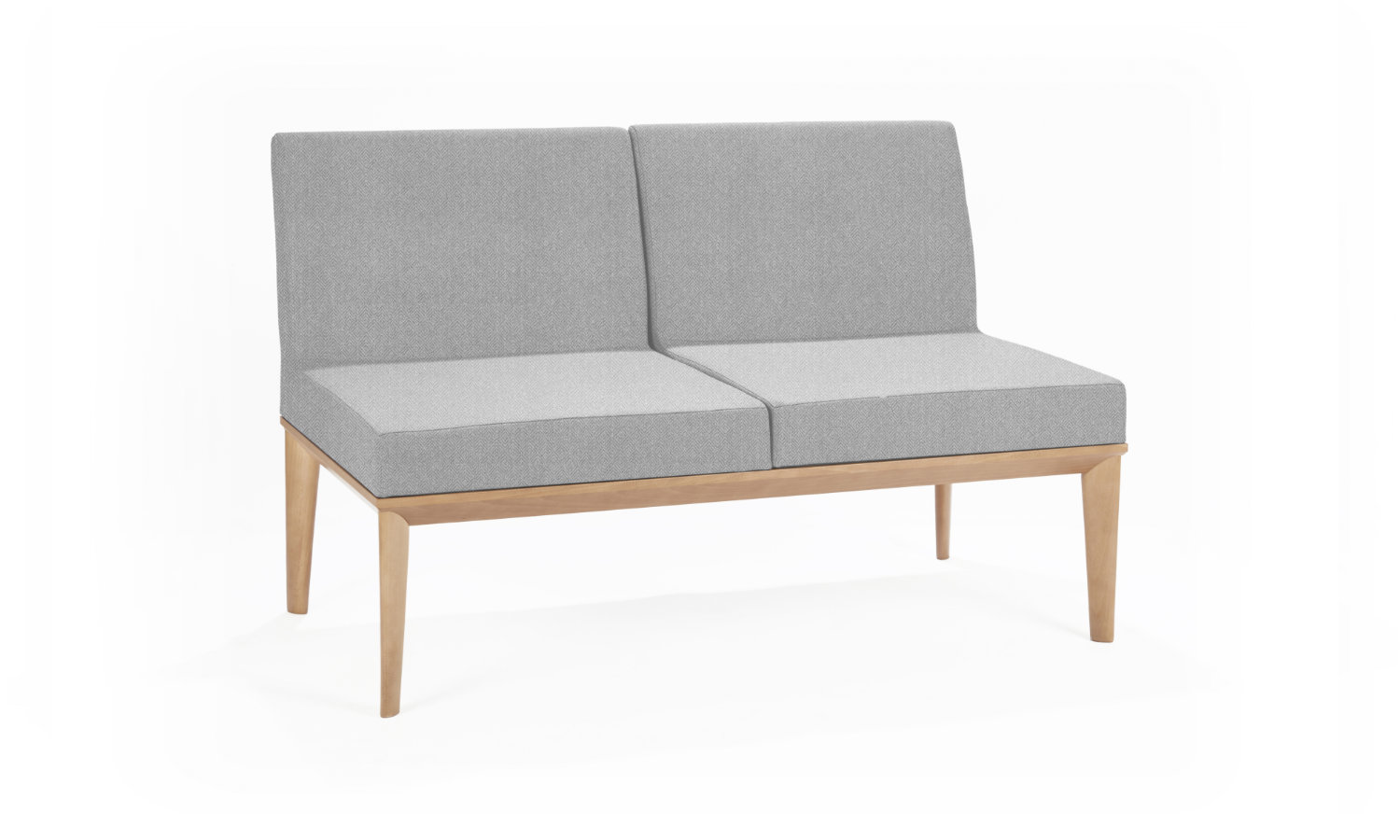 office soft seating grey for 2 people
