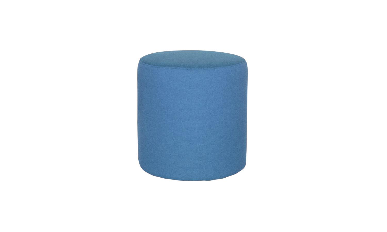 round blue ottoman