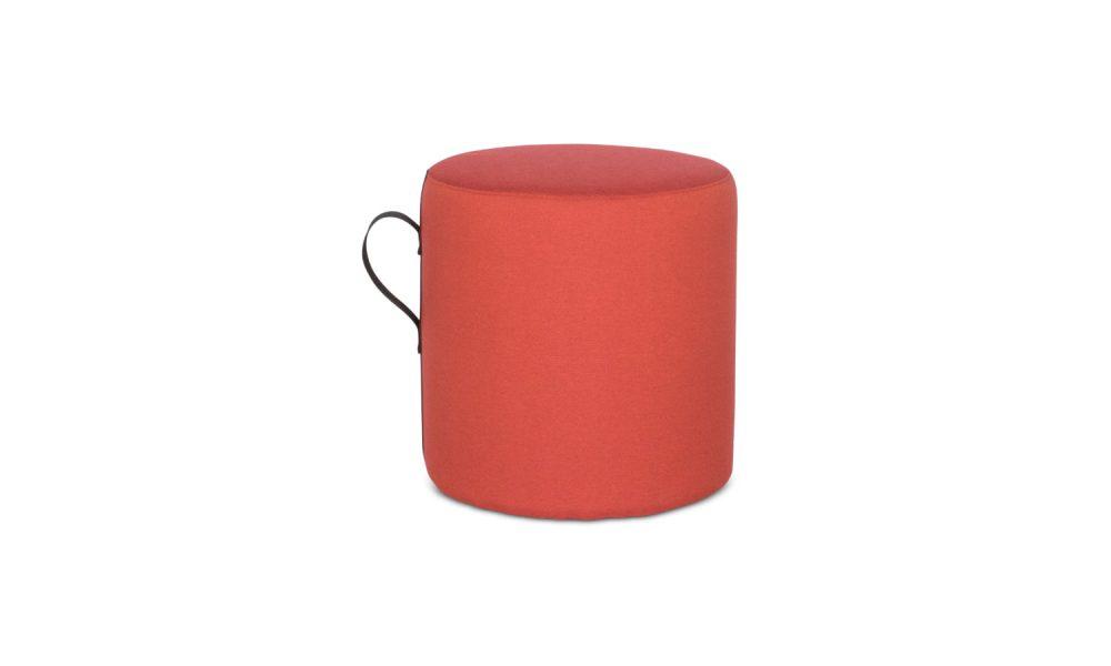 red round ottoman