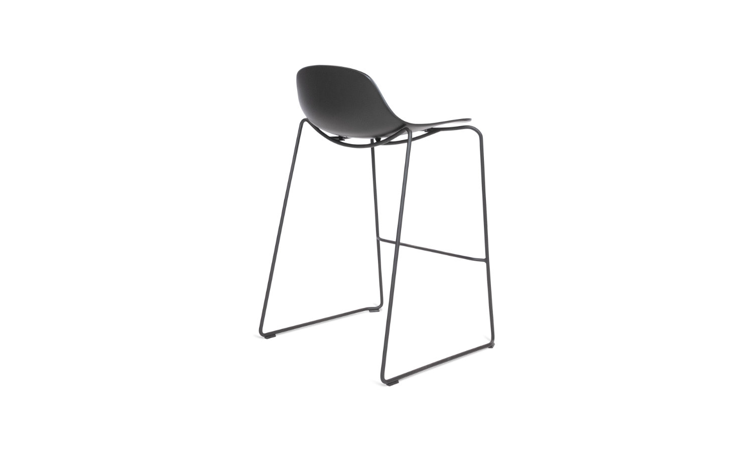 stool with steel base