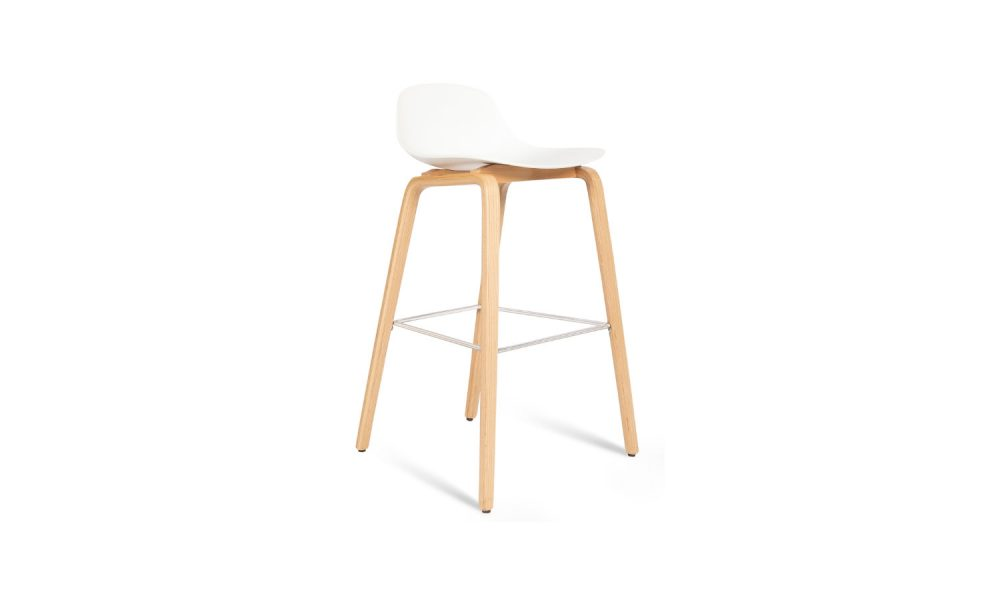 stool with timber base