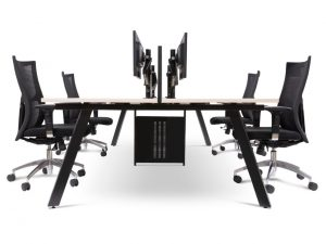 workstation with chairs and computers