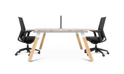 office workstation with chairs