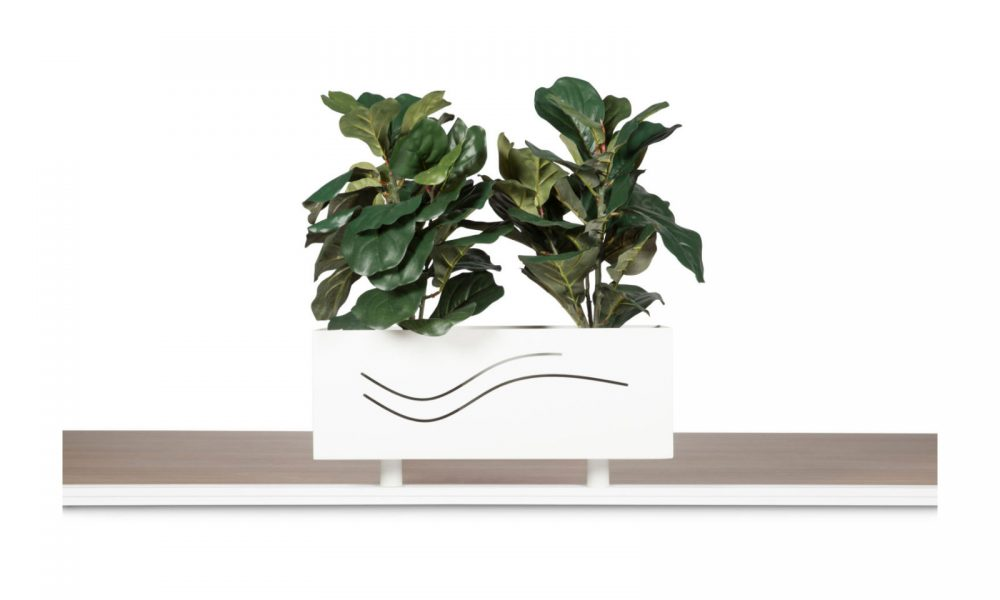 workstation track shelf planter