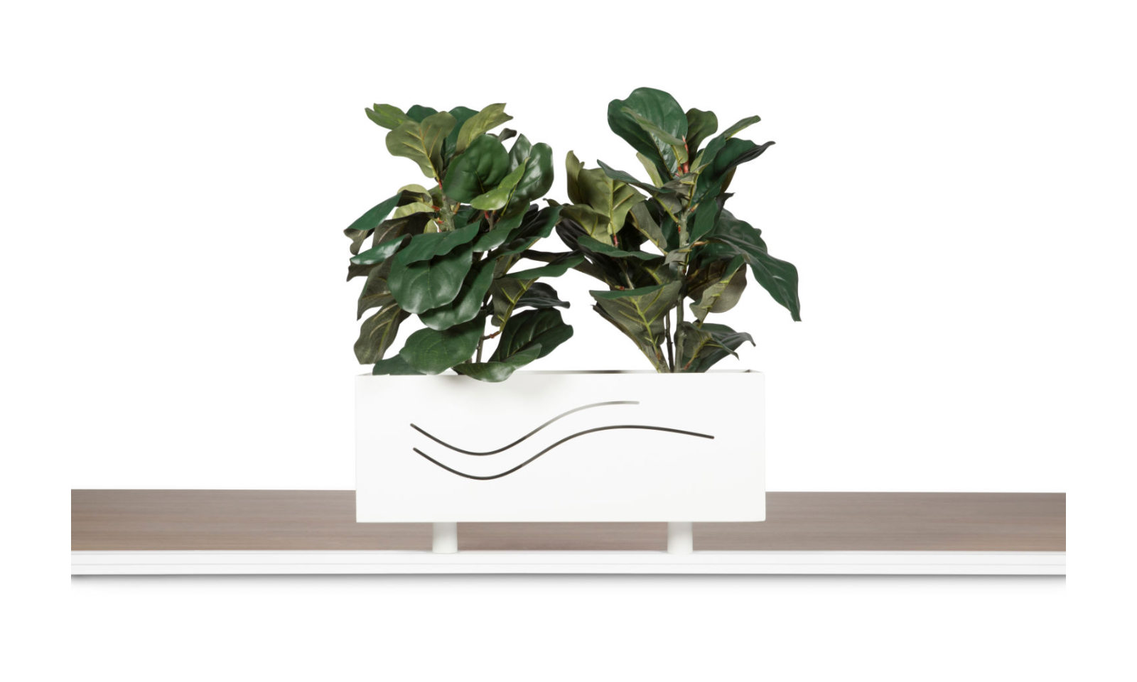 workstation track shelf planter