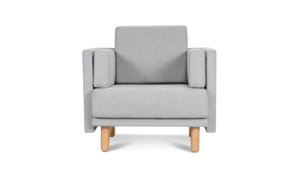 grey single seater lounge for office and commercial