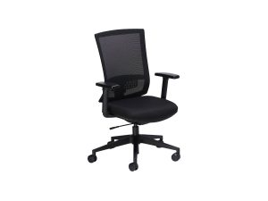 black office task chair