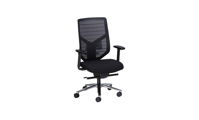 black office task chair