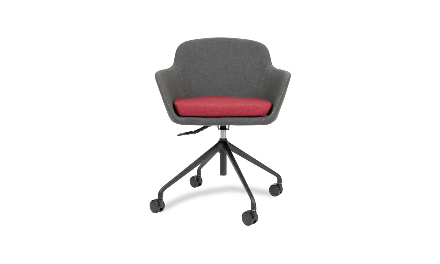 fabric armchair with 4 star base on castors