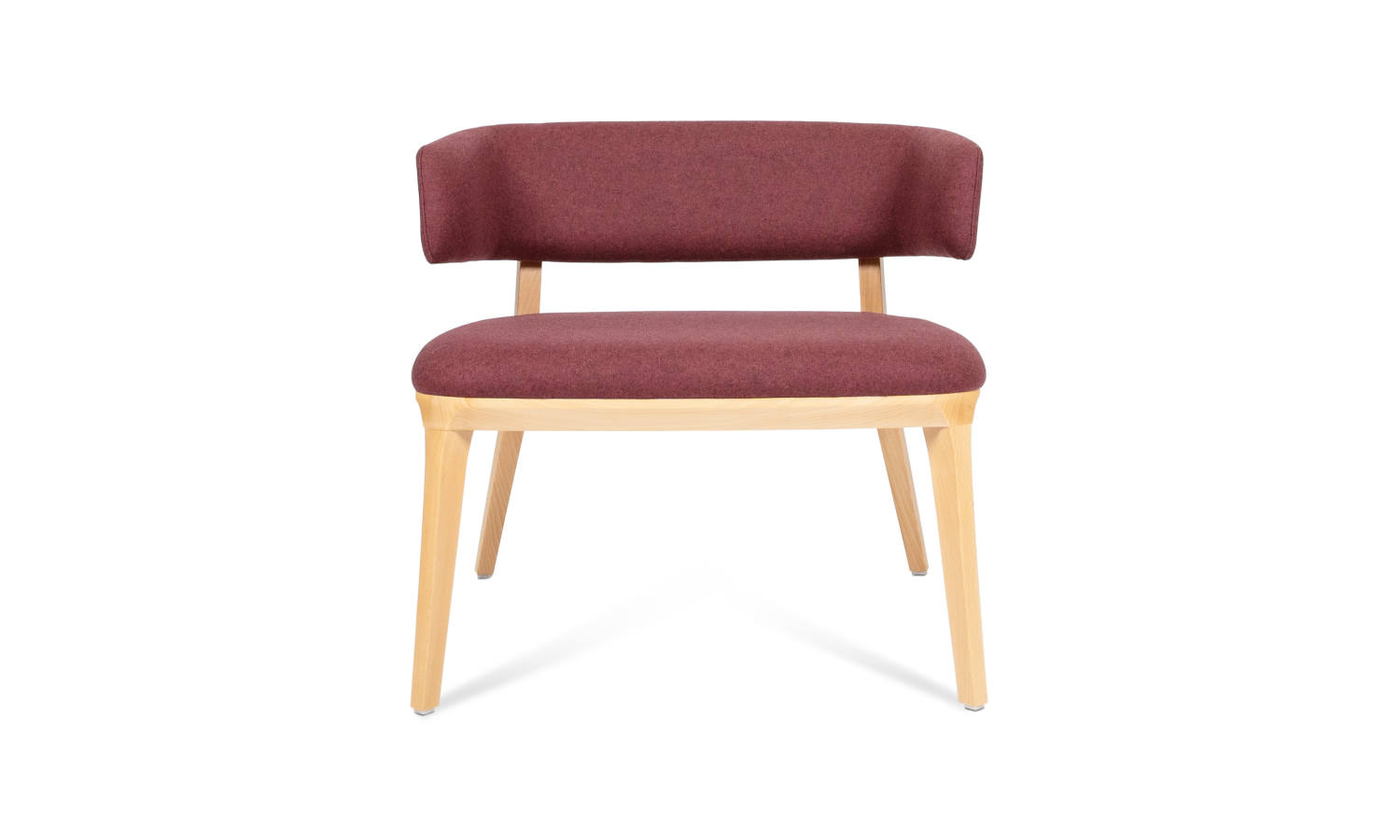 fabric armchair with 4 timber legs