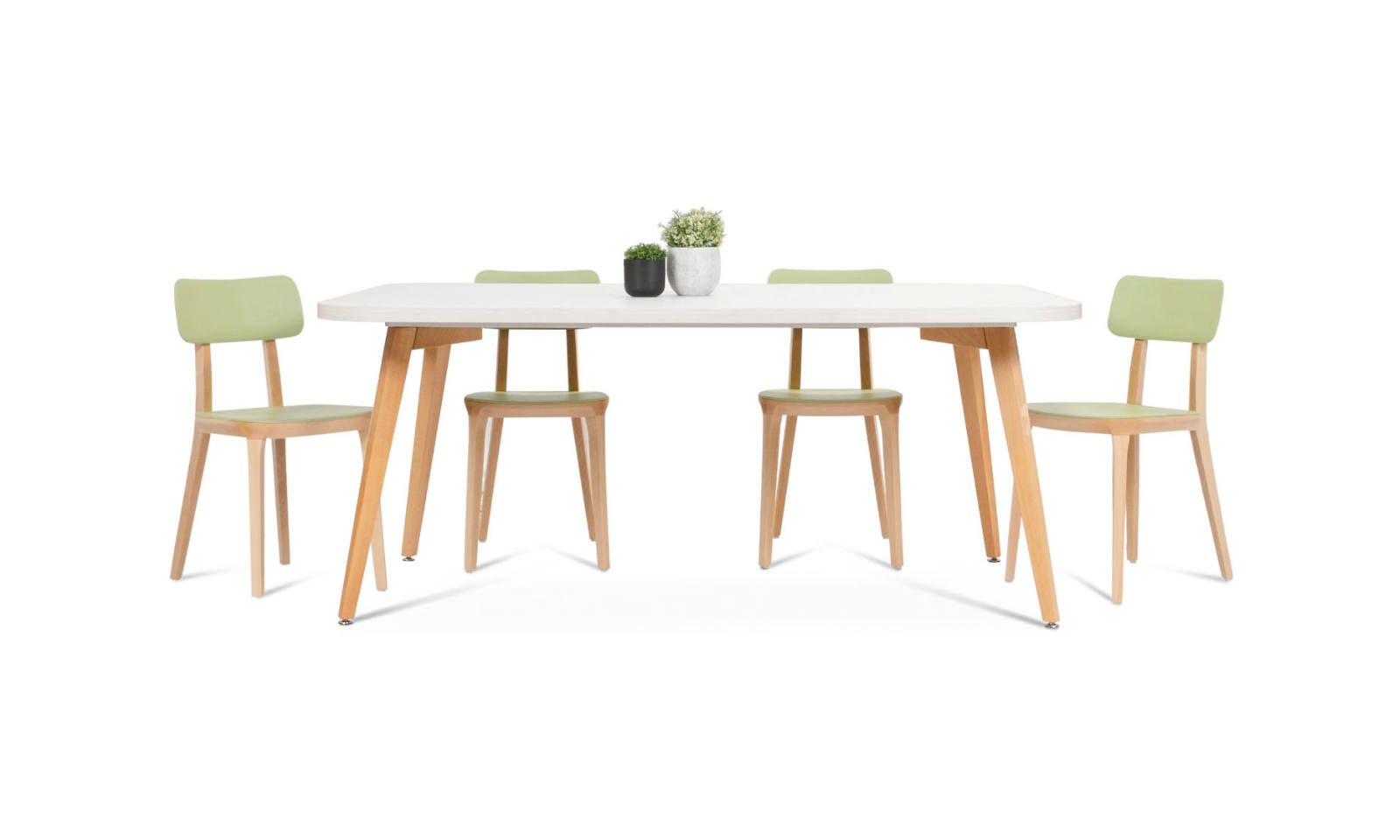 meeting table with timber legs