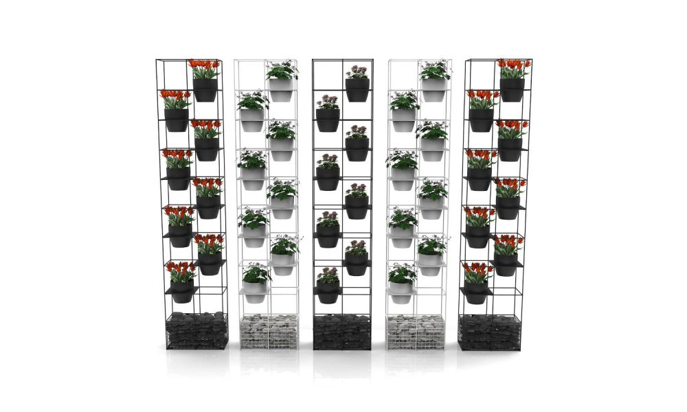 wire planter room divider