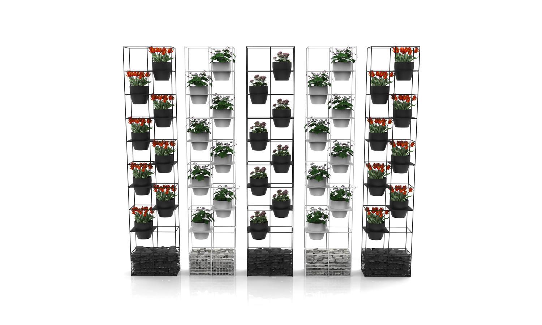 wire planter room divider