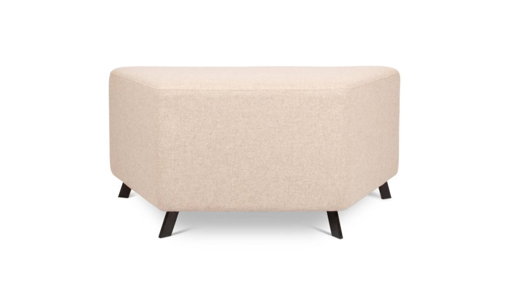 trapezium shaped ottoman back view