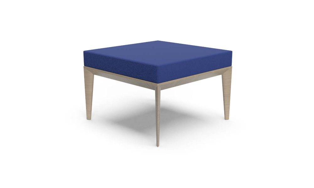 square ottoman with timber legs
