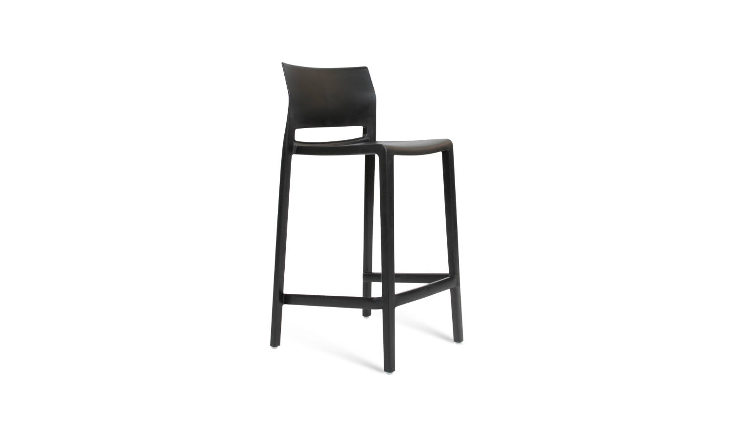 timber stool in black