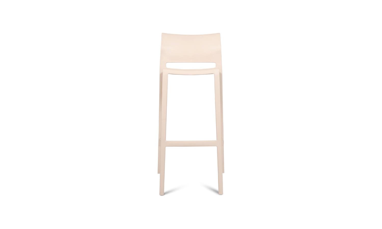 timber stool in black