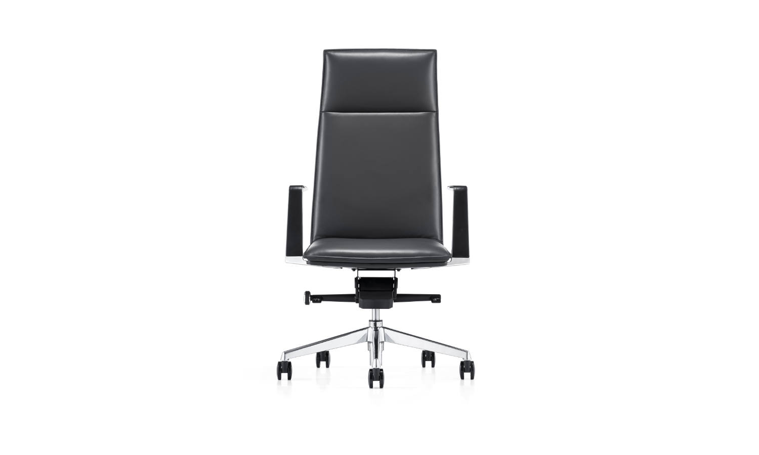 leather high back executive office chair