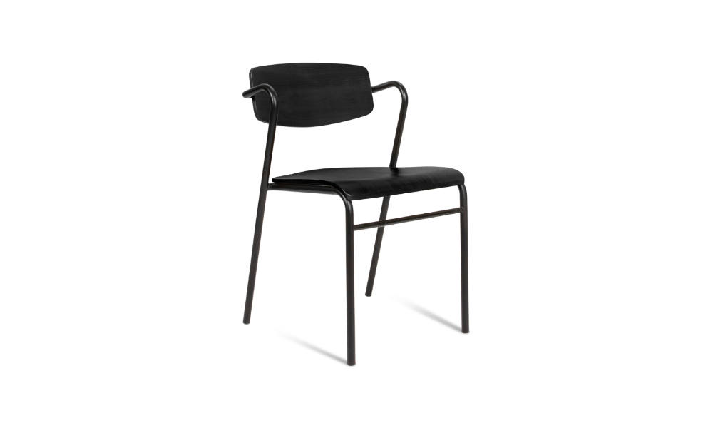 black visitor chair for office