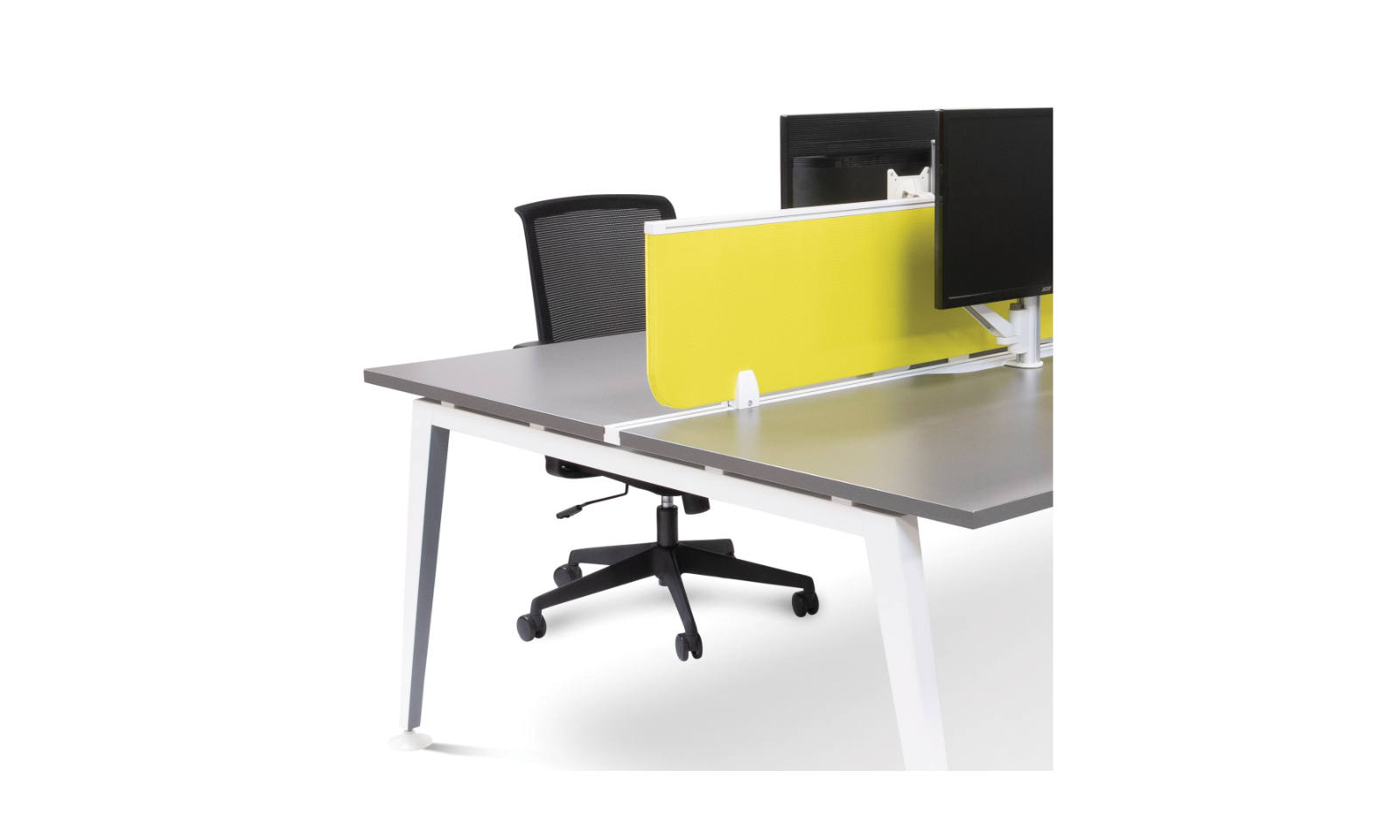 office workstation track for screen