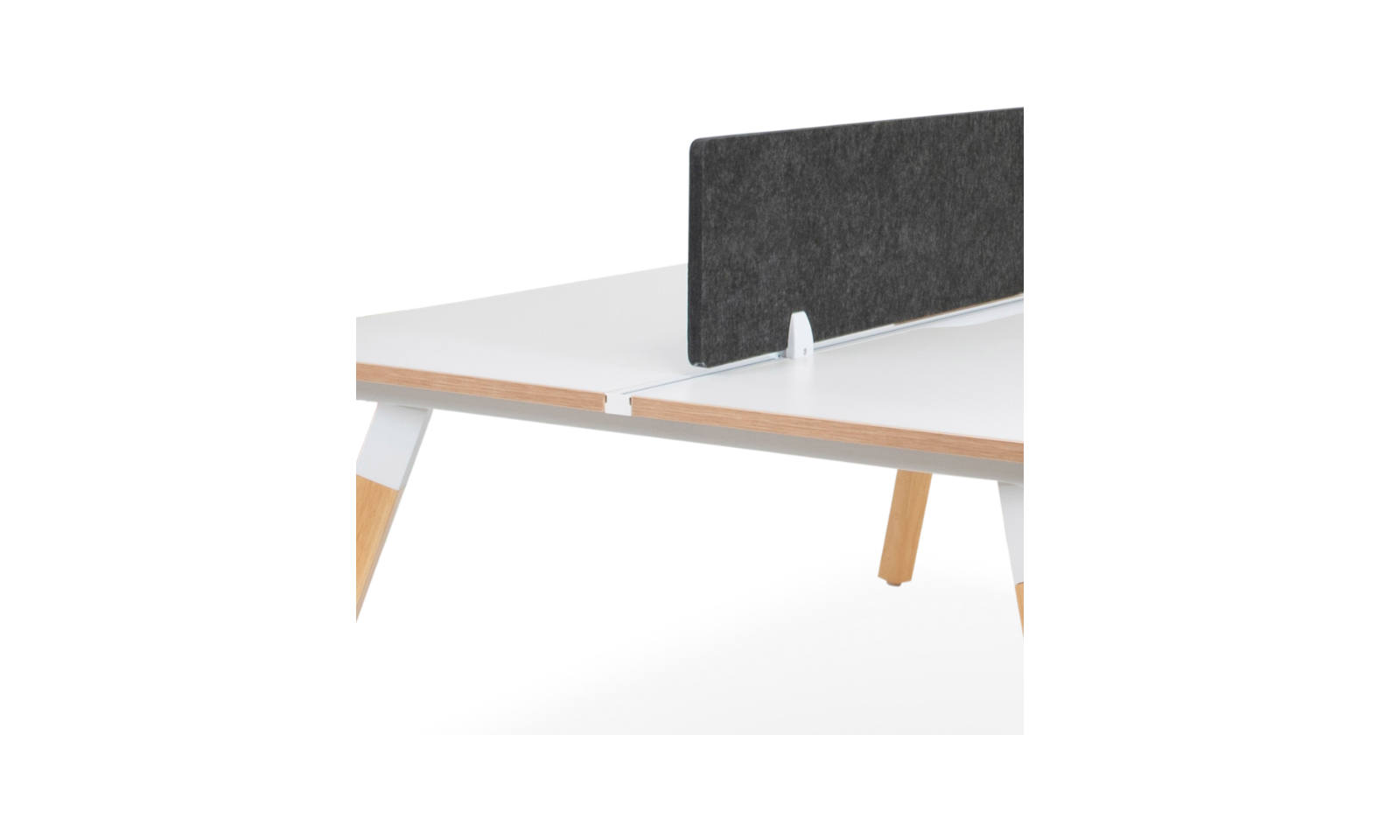 office workstation track for screen grey