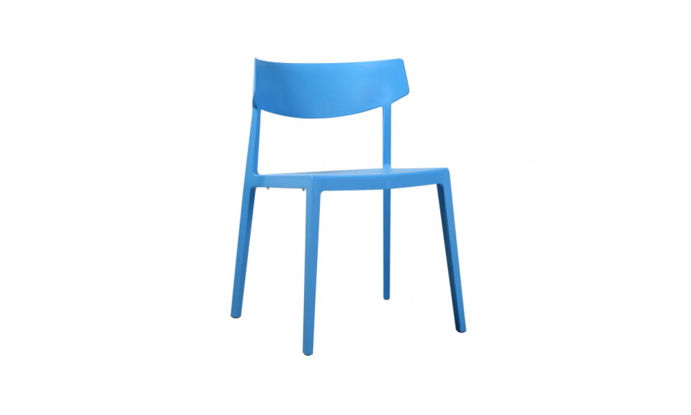 visitor and training chair in blue with four legs