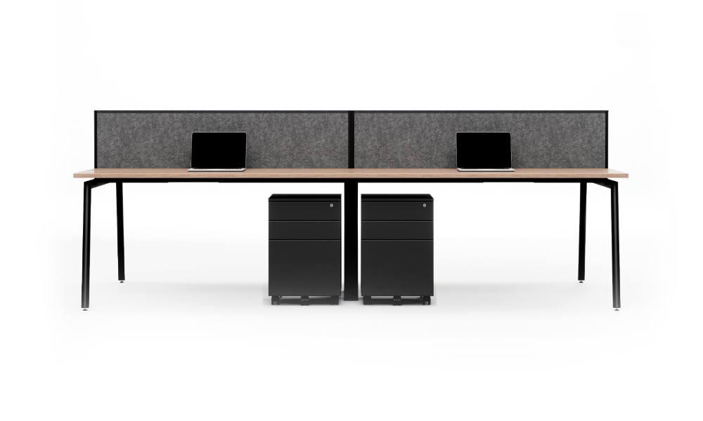 office workstation with pedestal