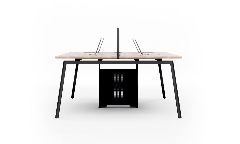 side view of the orbit office workstation by infinity commercial furniture