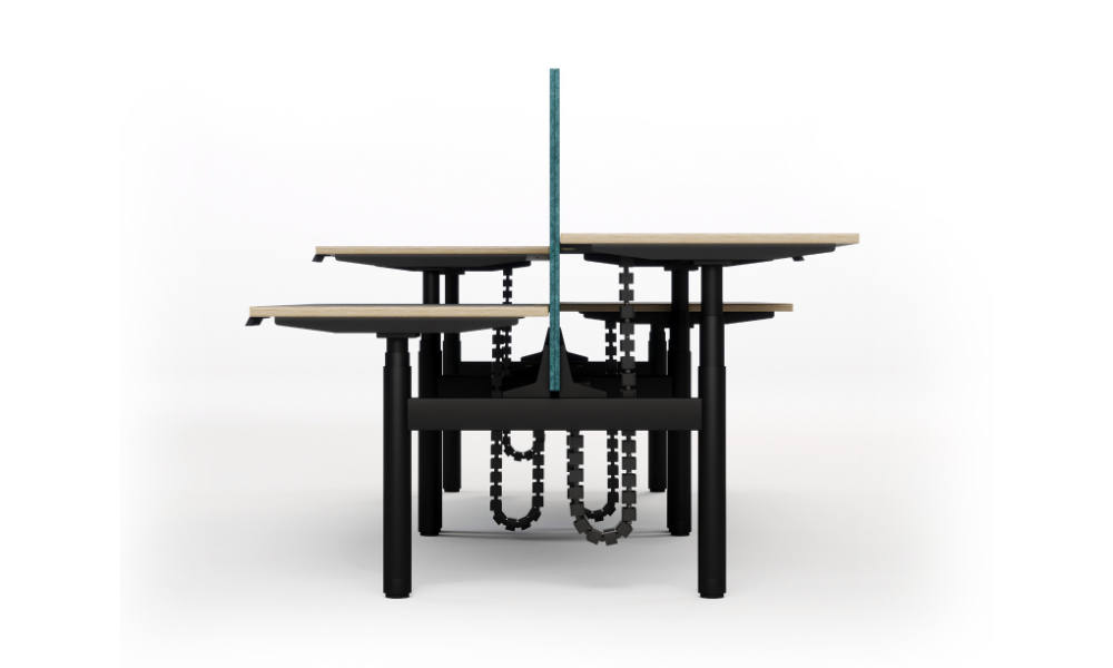 height adjustable office table with round legs