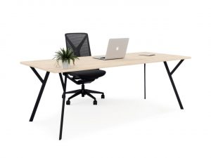 office desk black legs