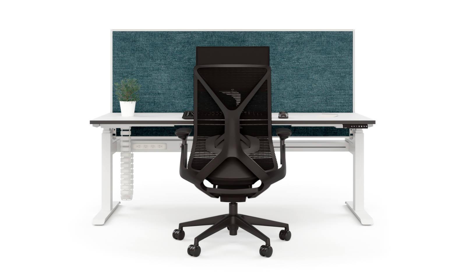 height adjustable desk with rectangular legs