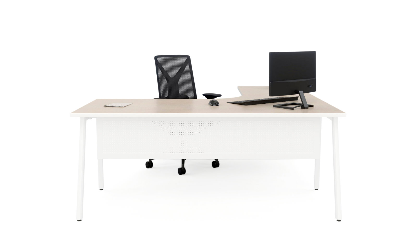 orbit white office desk